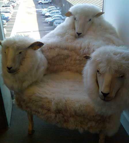 este finde apaláncate en una de éstas...contar ovejas nunca ha sido tan fácil! #Sillon #Ovejas