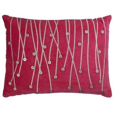 Raining button pillow