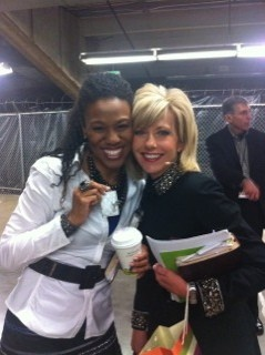 Priscilla Shirer (left) and Beth Moore, Bible teachers
