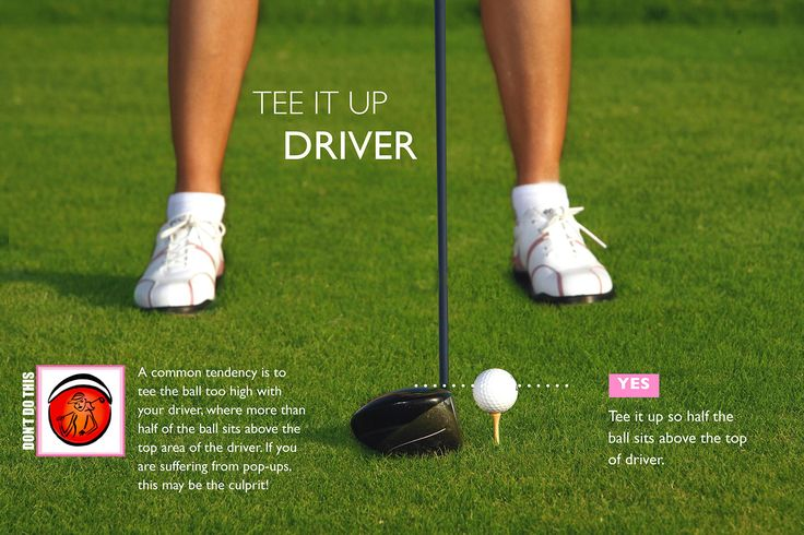 Tee height is really important. A good rule of thumb is half the ball above the top half of the driver to promote a launch.