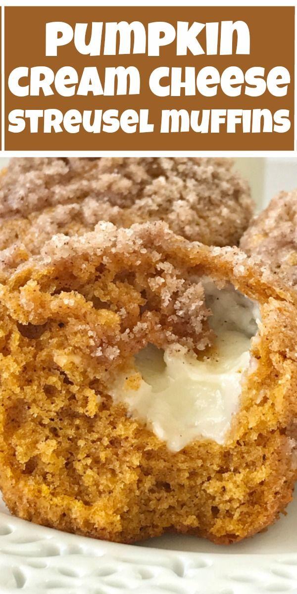Pumpkin Cream Cheese Streusel Muffins | Pumpkin Muffins | Pumpkin Cheesecake | P…