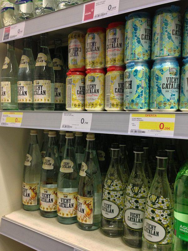 Vichy Catalán, en las estanterías del supermercado de El Corte Inglés del centro de Madrid