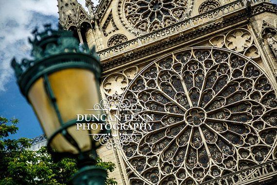 Lamp Post & Rose Window, Notre Dame, Paris | Fine Art Photography | Wall Art Print