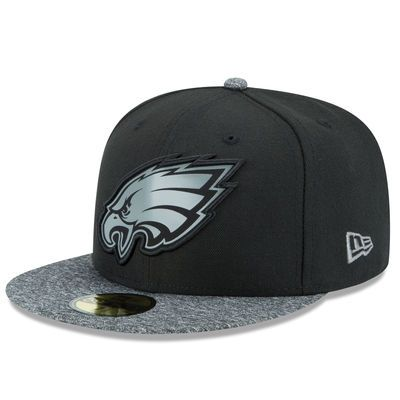 Men's Philadelphia Eagles New Era Black/Gray NFL Collection 59FIFTY Fitted Hat