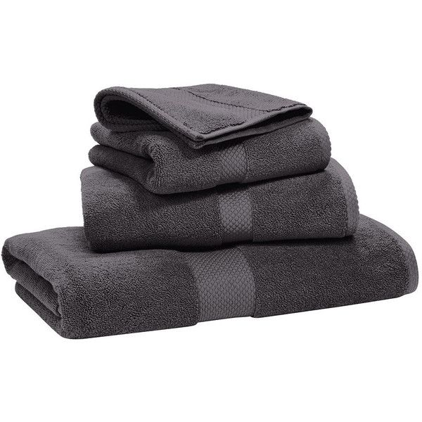 Ralph Lauren Home Avenue Towel - Graphite - Bath Towel (£69) ❤ liked on Polyvore featuring home, bed & bath, bath, bath towels, grey, dark grey bath towels, charcoal grey bath towels, egyptian cotton bath towels, grey bath towels and gray bath towels
