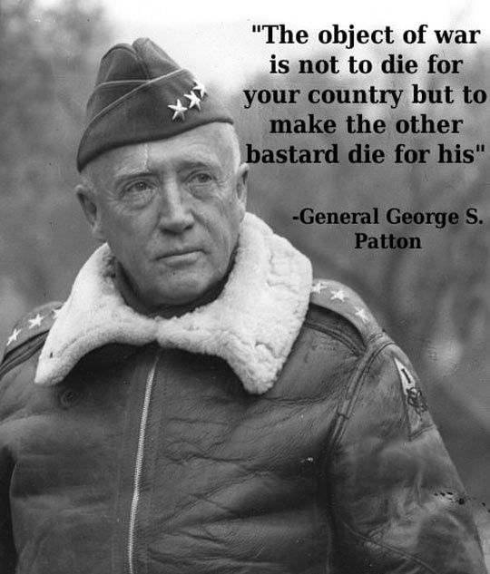 General Thought About War -( FIGHTING TO WIN is the ONLY way to fight!).