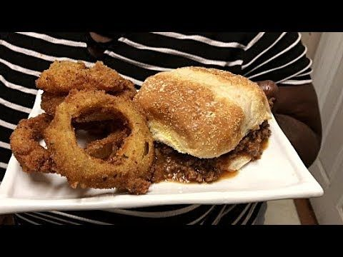 (68) SoulfulT How To Make Sloopy Joe And Onion Rings - YouTube