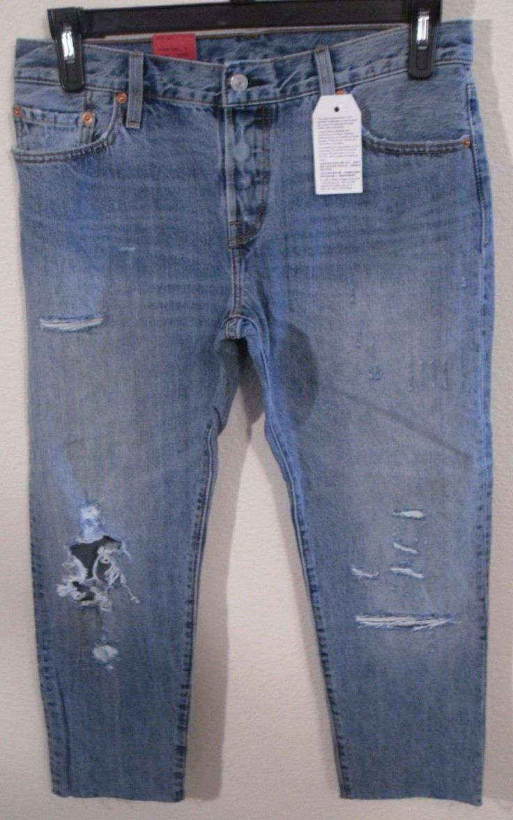 Nwt Levis 501 Ct Womens Customized Tapered Jeans 28X32 Time Gone By Msrp$98