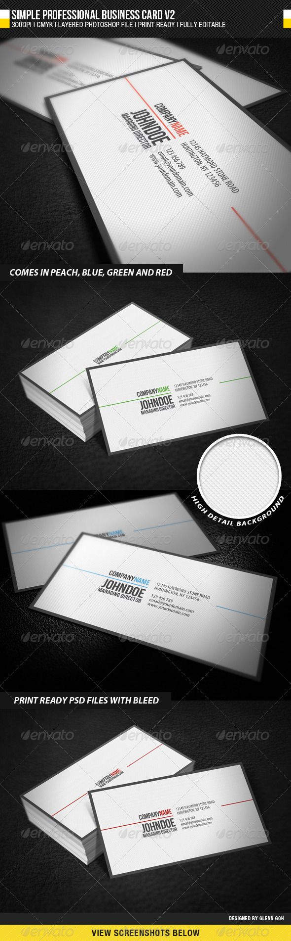 605 best business card template images on pinterest business card simple professional business card v2 reheart Gallery