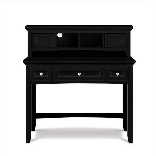 Magnussen Bennett Desk with Hutch in Black Finish by Magnussen. $922.99. Magnussen Bennett Desk in Black Finish (included quantity: 1) Features: Constructed from cherry veneer over hardwood solids Black Finish Nickel Hardware Color Student Desk features 4 drawers with one is drop-down Desk features 3 drawers with the center is drop-down Features Back pannel attatched with wood screws and tipping restraints for saftey and security 1 Year Limited Warranty Specifications: Over...