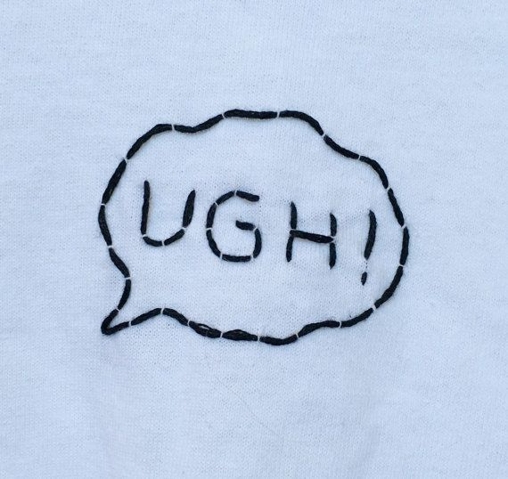 UGH! The 1975 Inspired Embroidered T-Shirt