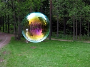 The bubble with beautiful colours