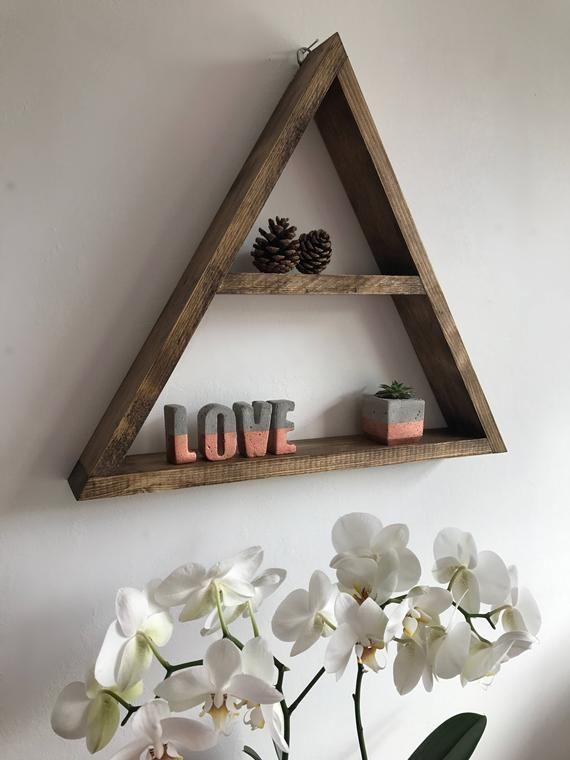 X Large Triangle Shelf Triangle Shelf Display Shelf Etagere Etsy