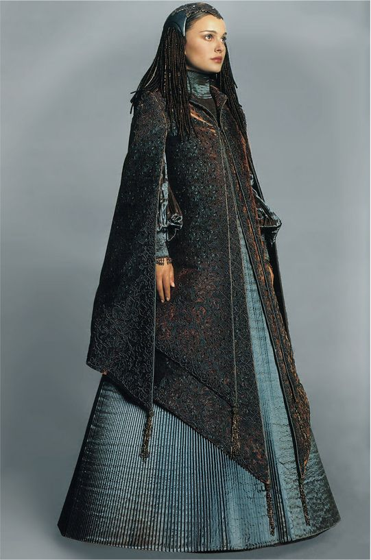 Senator Padmé Amidala (Natalie Portman) in the Peacock dress