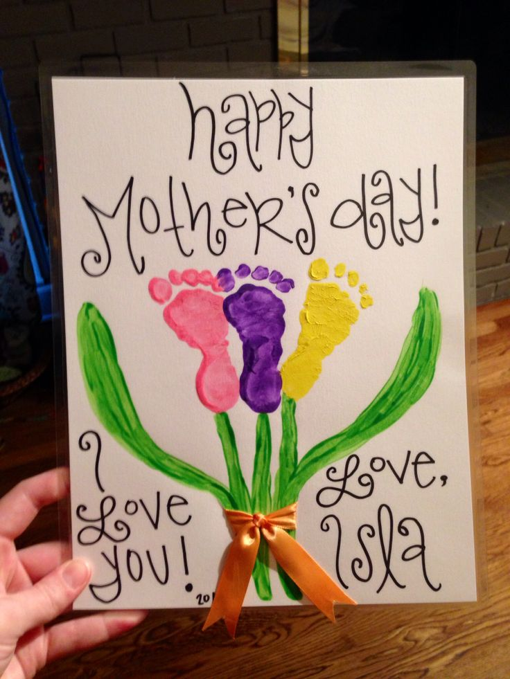 Infant Mother's Day craft