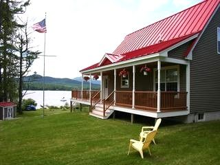 Red Roof Grey With White Trim Cabin Cool Roofs Pinterest
