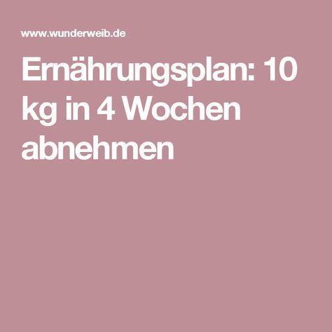 Ernährungsplan: 10 kg in 4 Wochen abnehmen – barbara wulff