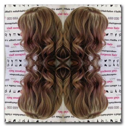 Gorgeous Hair @ Gorokan - Google+ #curls #highlights #blonde #mirrorfun