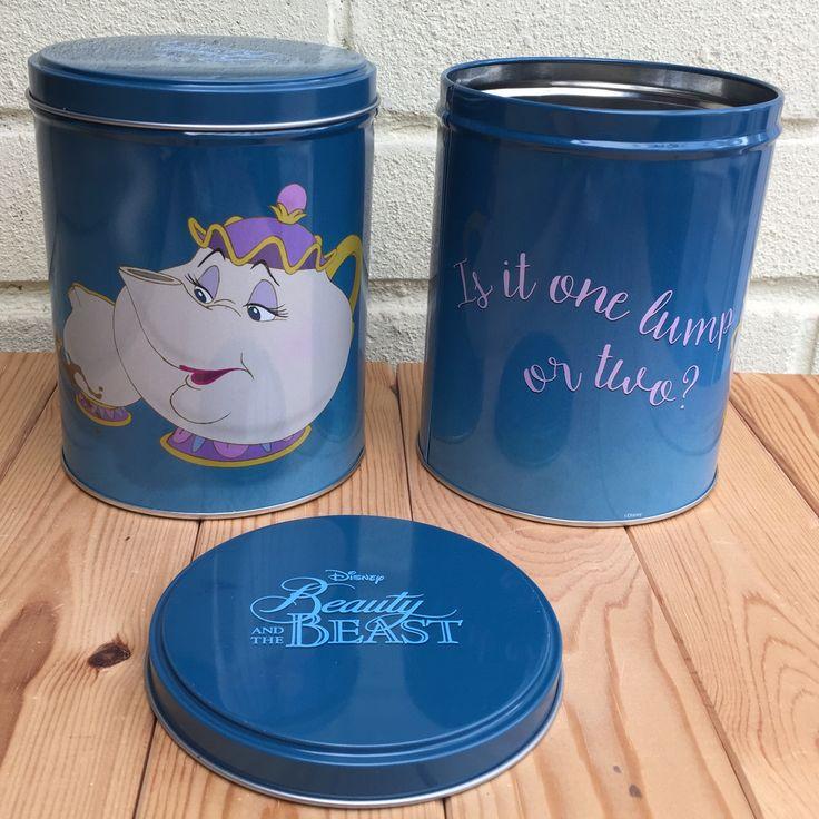 Disney Beauty and the Beast Storage Tin. Mrs Potts - Is it 1 lump or 2? Sugar Tin.