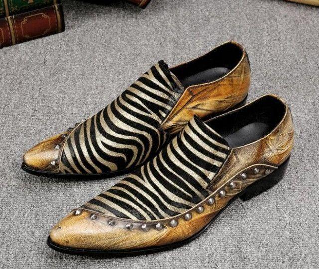 Rivets Luxury Italian Men Dress Shoes