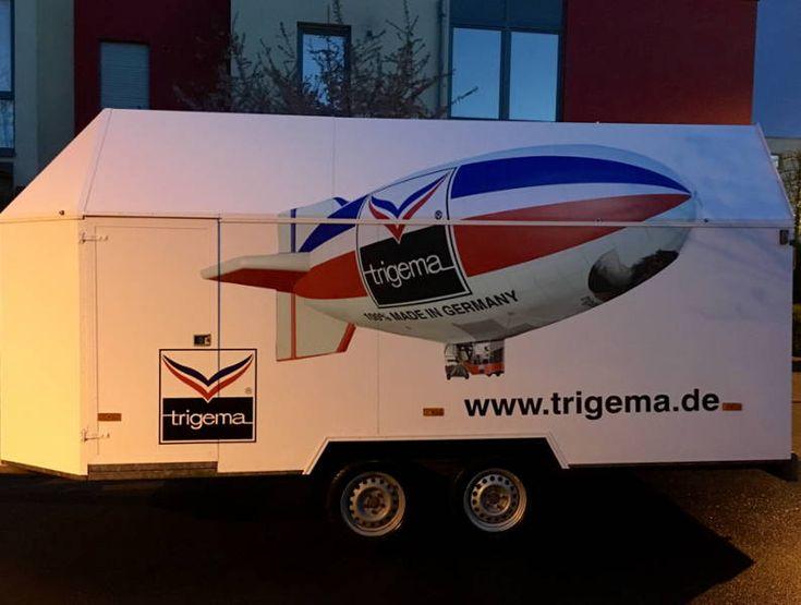 Der Spezialanhänger für unser TRIGEMA Luftschiff