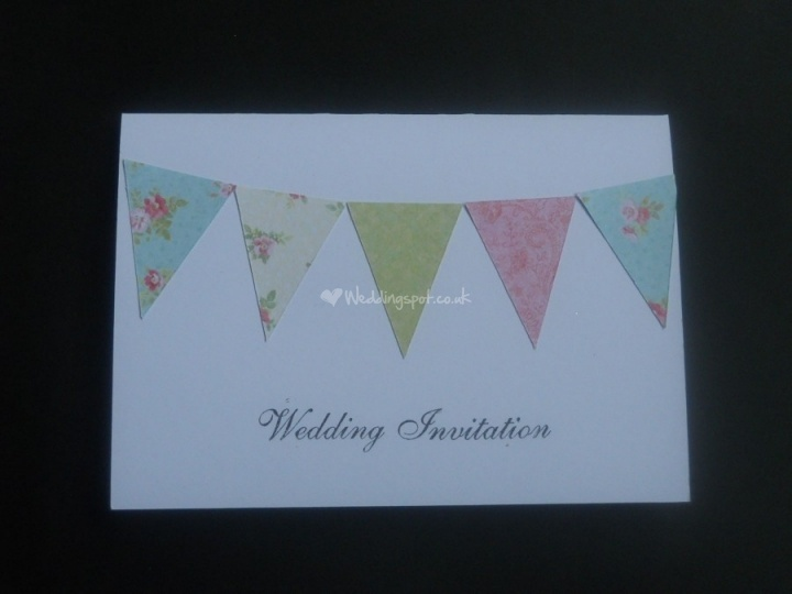Bunting from Geebee Invitations