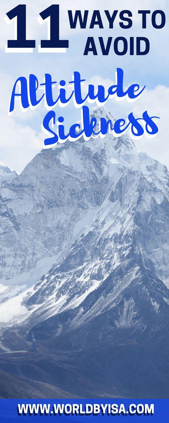 11 Ways to Avoid Altitude Sickness - World By Isa