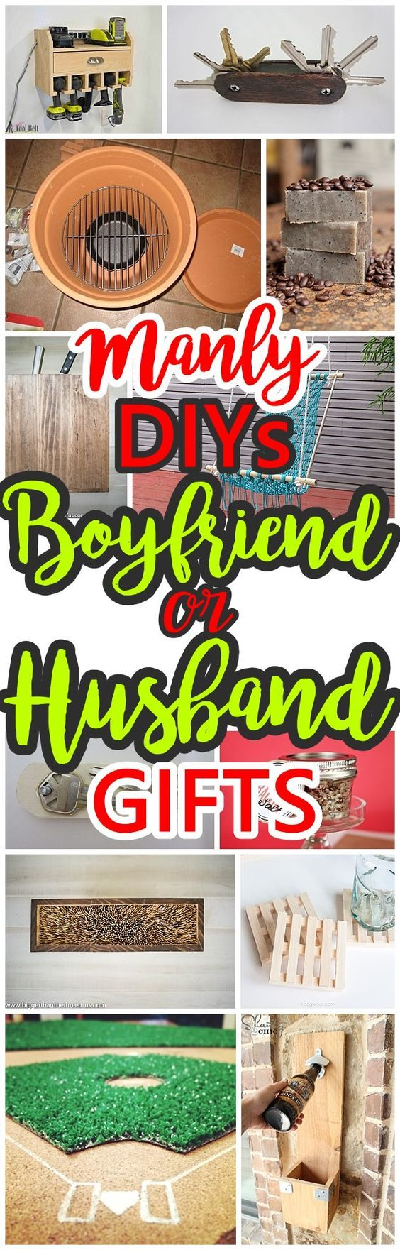 Do it Yourself Manly Gift Ideas for Boyfriends, Husbands Sons, Brothers, Uncles, Cousins or any guy on your gift list! - DIY Christmas, Birthdays, Fathers Day, Graduation Presents or Anytime - Dreaming in DIY #giftsforboys #giftsformen #diygiftsformen #diygiftsforboys #christmasgiftsformen