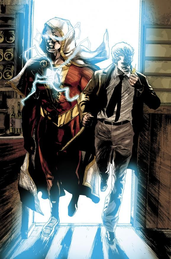Shazam and John Constantin by Renato Guedes *