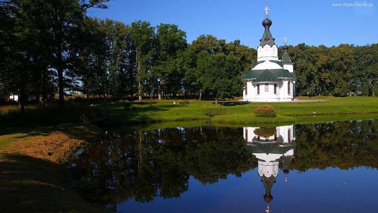 Park, Cerkiew, Jeziorko, Staw