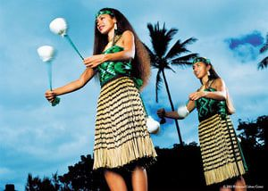 Maori Dancers with Poi Balls, Aotearoa (New Zealand) Village at the Polynesian Cultural Center in Laie, Oahu, Hawaii - Photo Polynesian Cultural Center, used with permission