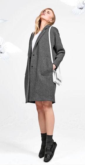 Пальто - выкройка № 128 из журнала 8/2014 Burda – выкройки пальто на Burdastyle.ru