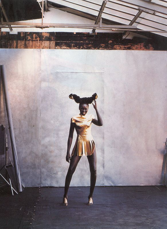 whitaker-malem-fashion-givenchy-couture-formed-leather-gold-centurian-breastplate-alexander-mcqueen-alek-wek-vogue-italia | Flickr - Photo Sharing!