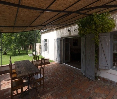 Terrace with covered and open parts - Luxury Villa Art at Lake Balaton