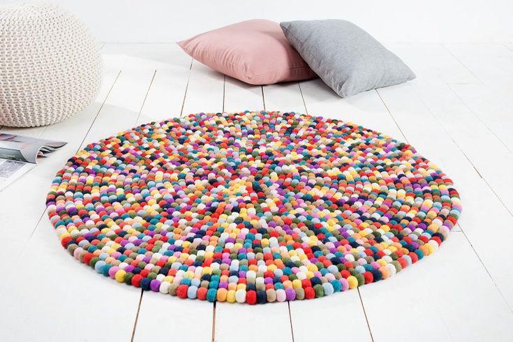 Koberec BALL COLOR. Color carpet in round shape.
