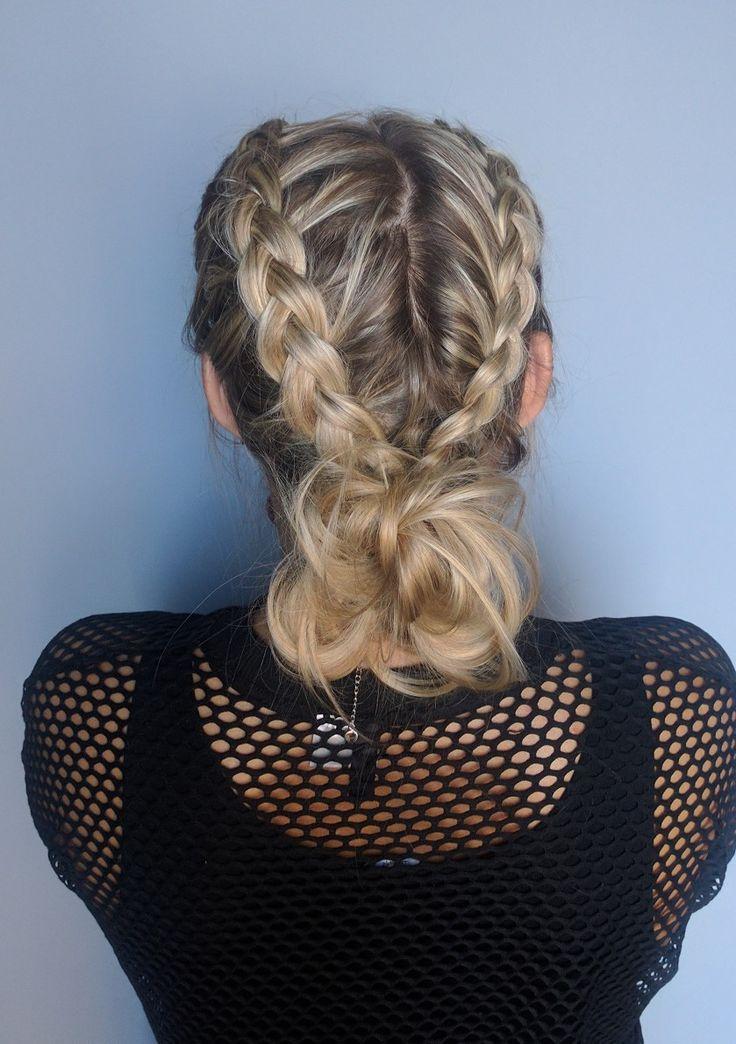 Loose dutch braid with bun ❤️