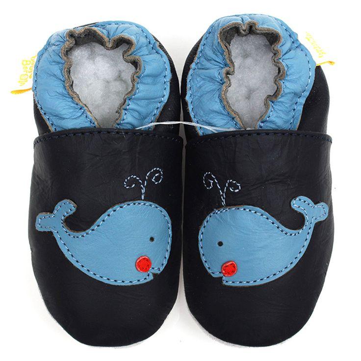 Кожаные ботинки младенца мальчик детские мокасины животных дети малыша тапочки мягкие обуви синий кровать в обуви впервые уокер 0-4y