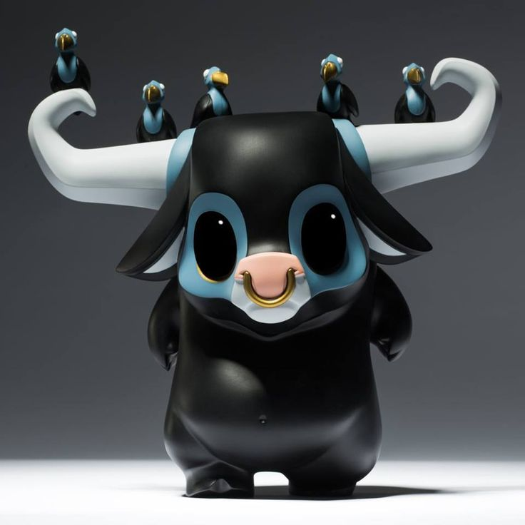 "SpankyStokes.com | Vinyl Toys, Art, Culture, & Everything Inbetween: JPX × Coarse Toys's ""KWAII: Clomp"" limited edition vinyl buffalo figure!"
