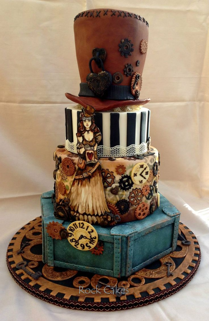 punk rock wedding cakes 148 best steam cake ideas images on 18844