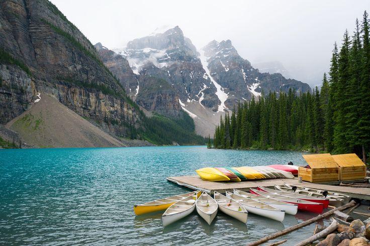 Canoes of Moraine Lake