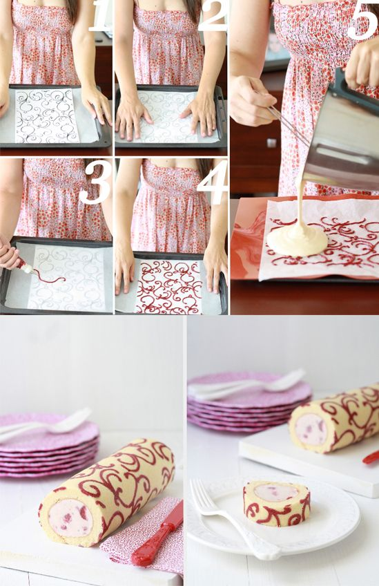 Wow Look at this Cookie Roll!   Wanna make it? Head on over to More Design Please  for the recipe.    Can't get over this... so pretty.  ...