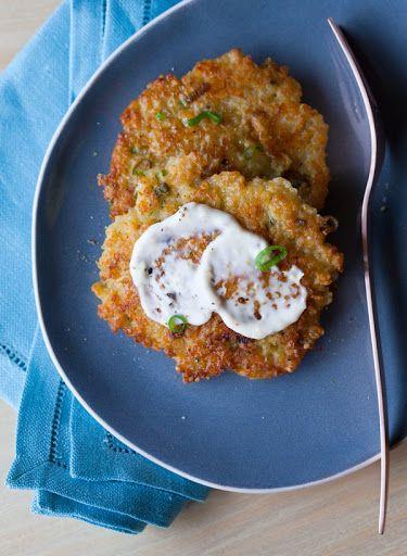 Cheesy Quinoa Cakes with a Roasted Garlic and Lemon Aioli Recipe on Yummly