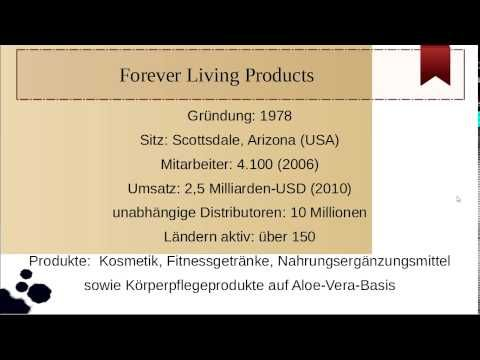 Forever Living Products is one of the largest mlm companies of the world and achieved an annual turnover of 2,5 billion USD.  Forever Living Products Erfahrungen, siehe unter Youtube, FLP -- http://www.youtube.com/watch?v=U78UPjYUjmI