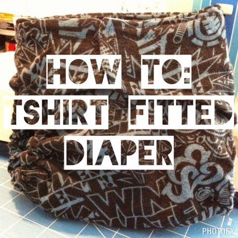 The How To Hippie: How To: T-Shirt Fitted Cloth Diaper Pic-Torial