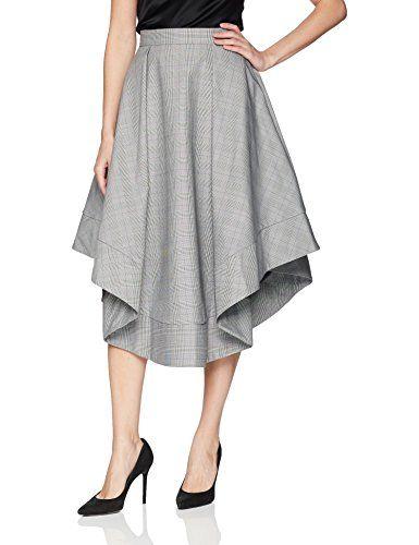 C/Meo Collective Women's We Woke up High Waist Plaid Full Midi Skirt #skirt #midiskirts http://amzn.to/2uhe1Sz