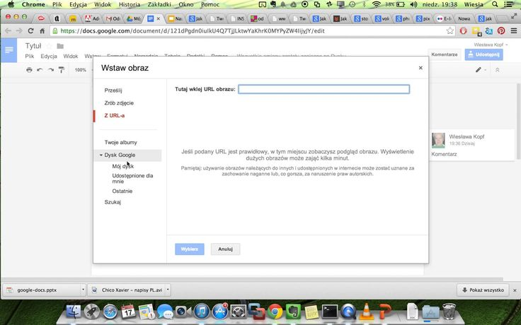 Tworzenie dokumentu w Dysk Google