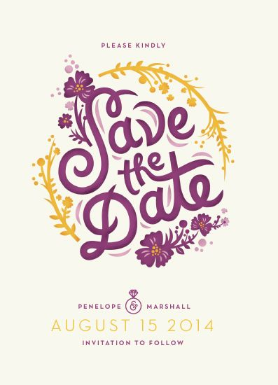save the date cards - Circling Floral by Valerie Jar