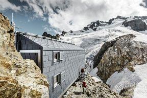 PREFA gestaltete spektakulären Alpin-Auftritt mit Dach- und Fassadenpaneel FX.12 - heinze.de