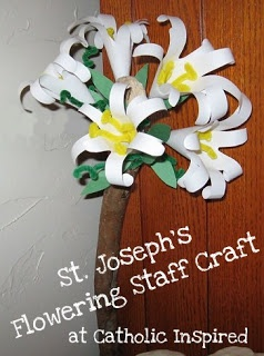 St. Joseph Feast Day ~ Flowering Staff Craft   Catholic Inspired ~ Arts, Crafts, and Activities!