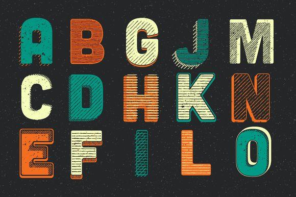 Woodcut Lettering Generator by Scott Byrne Design on Creative Market